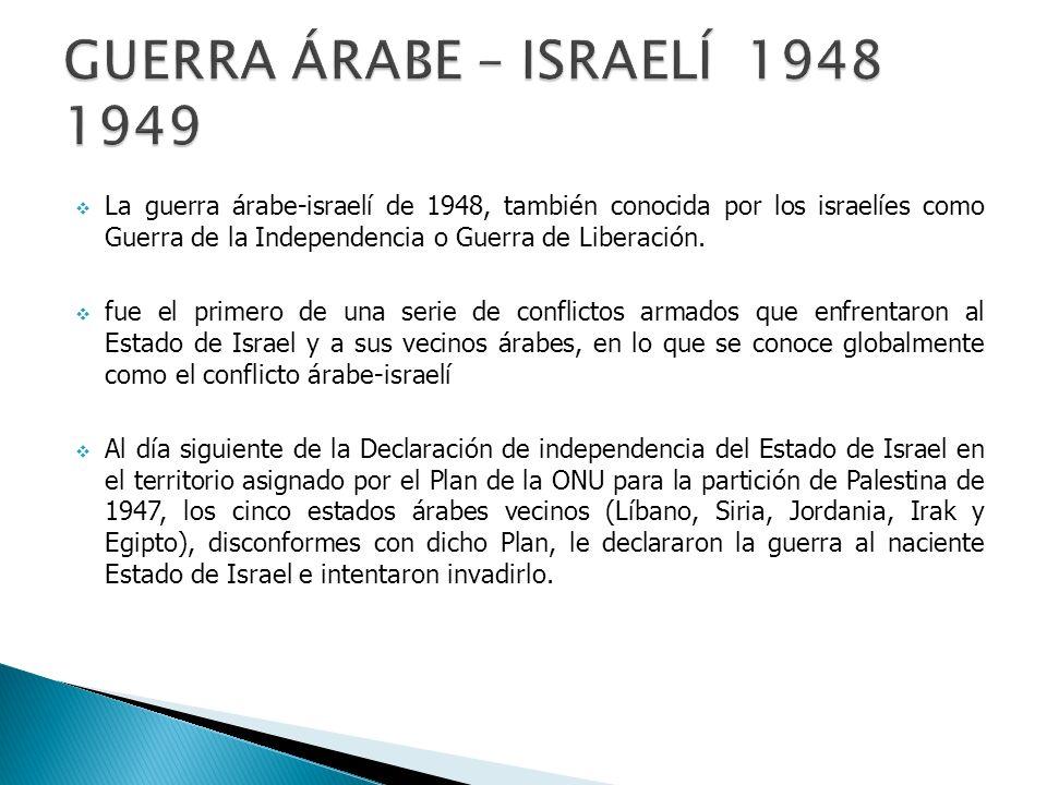 GUERRA árabe – Israelí 1948 1949