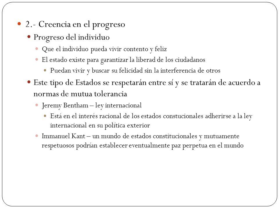 2.- Creencia en el progreso