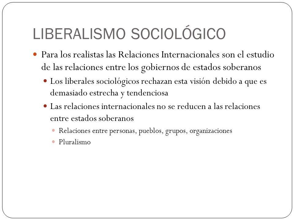 LIBERALISMO SOCIOLÓGICO