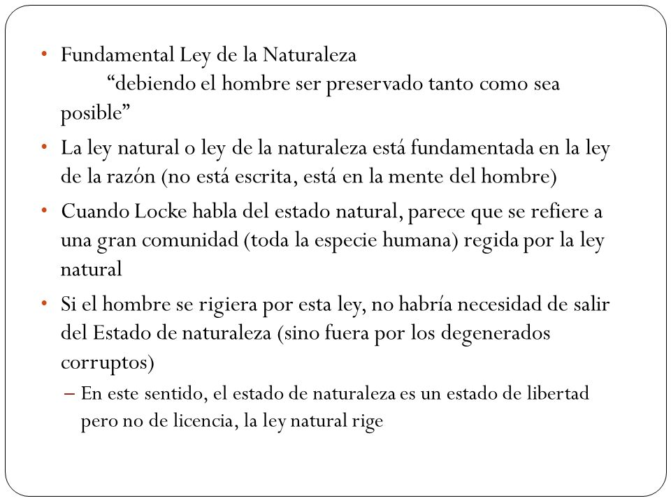 Fundamental Ley de la Naturaleza