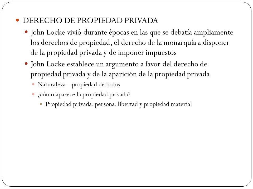 DERECHO DE PROPIEDAD PRIVADA