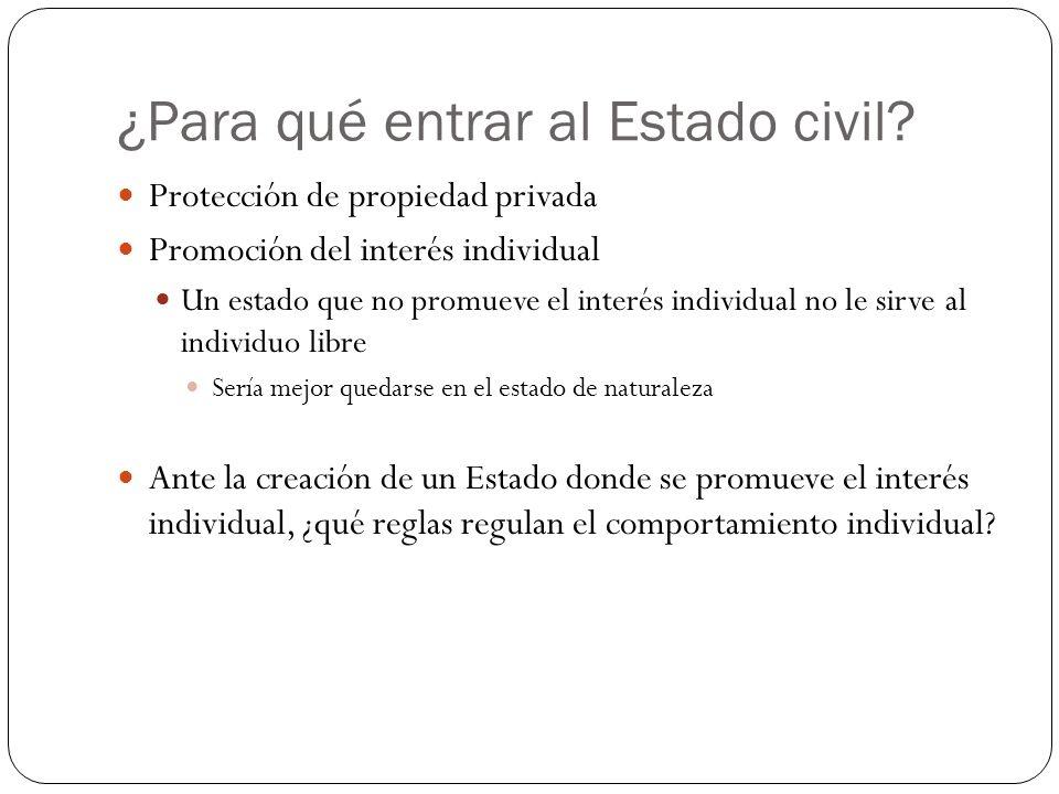 ¿Para qué entrar al Estado civil