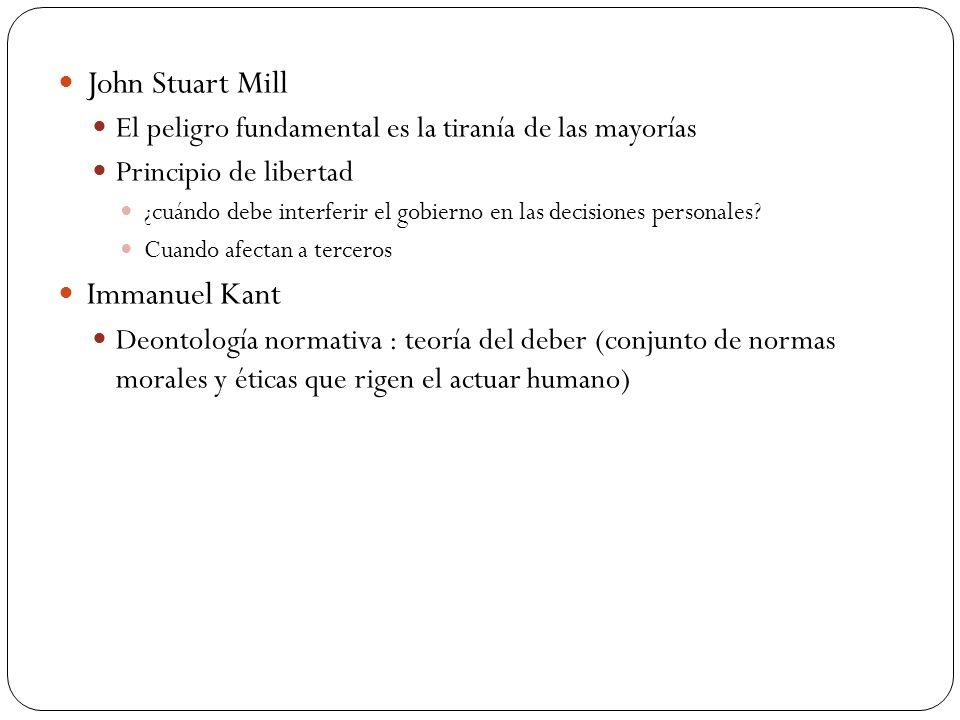 John Stuart Mill Immanuel Kant
