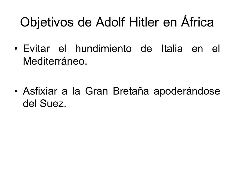 Objetivos de Adolf Hitler en África