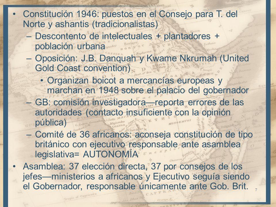 Constitución 1946: puestos en el Consejo para T