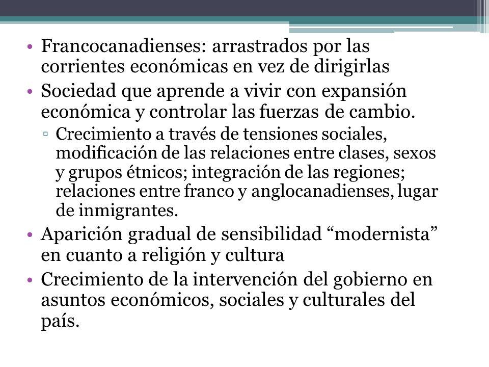 Francocanadienses: arrastrados por las corrientes económicas en vez de dirigirlas