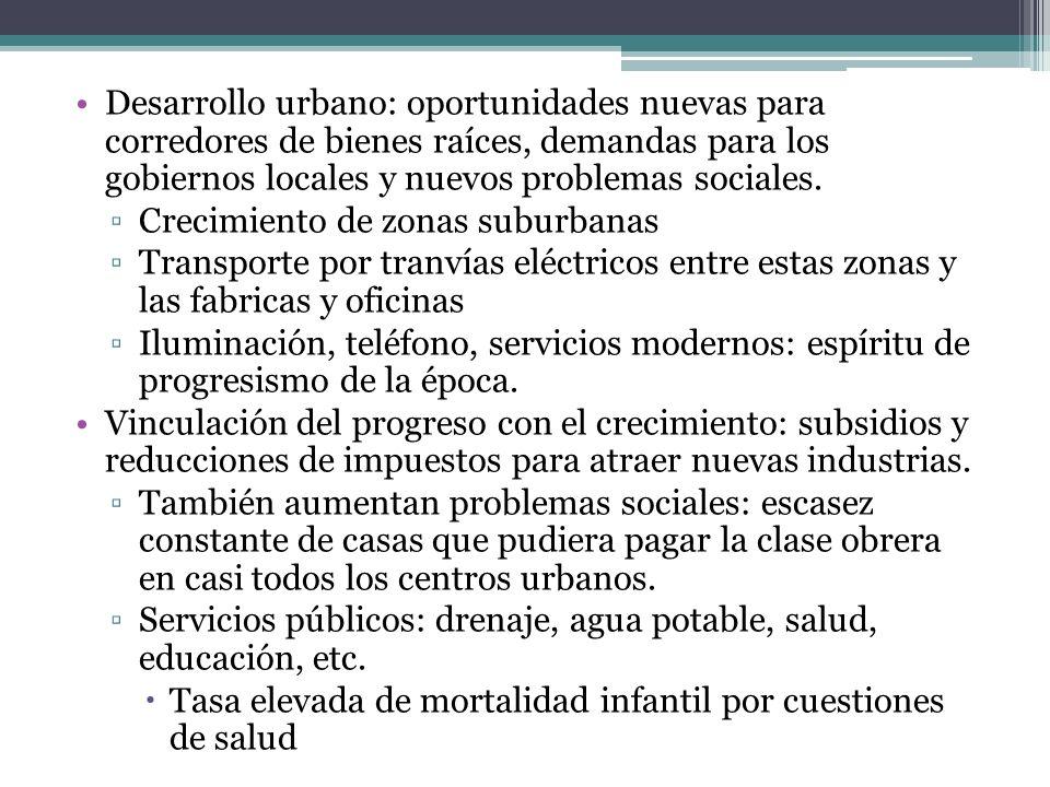 Desarrollo urbano: oportunidades nuevas para corredores de bienes raíces, demandas para los gobiernos locales y nuevos problemas sociales.