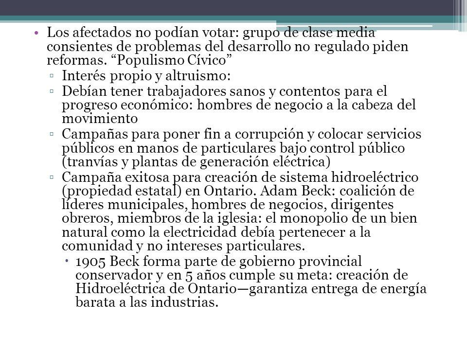Los afectados no podían votar: grupo de clase media consientes de problemas del desarrollo no regulado piden reformas. Populismo Cívico