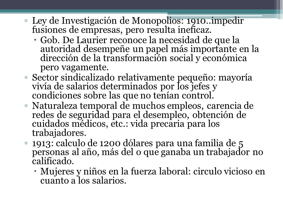 Ley de Investigación de Monopolios: 1910
