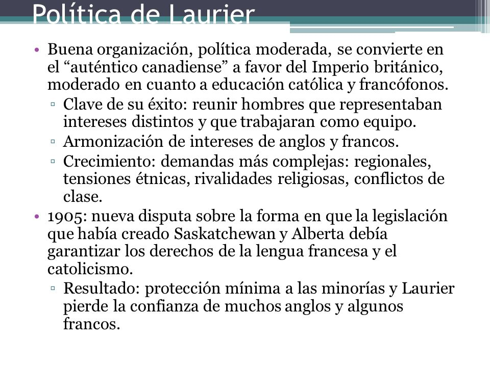 Política de Laurier
