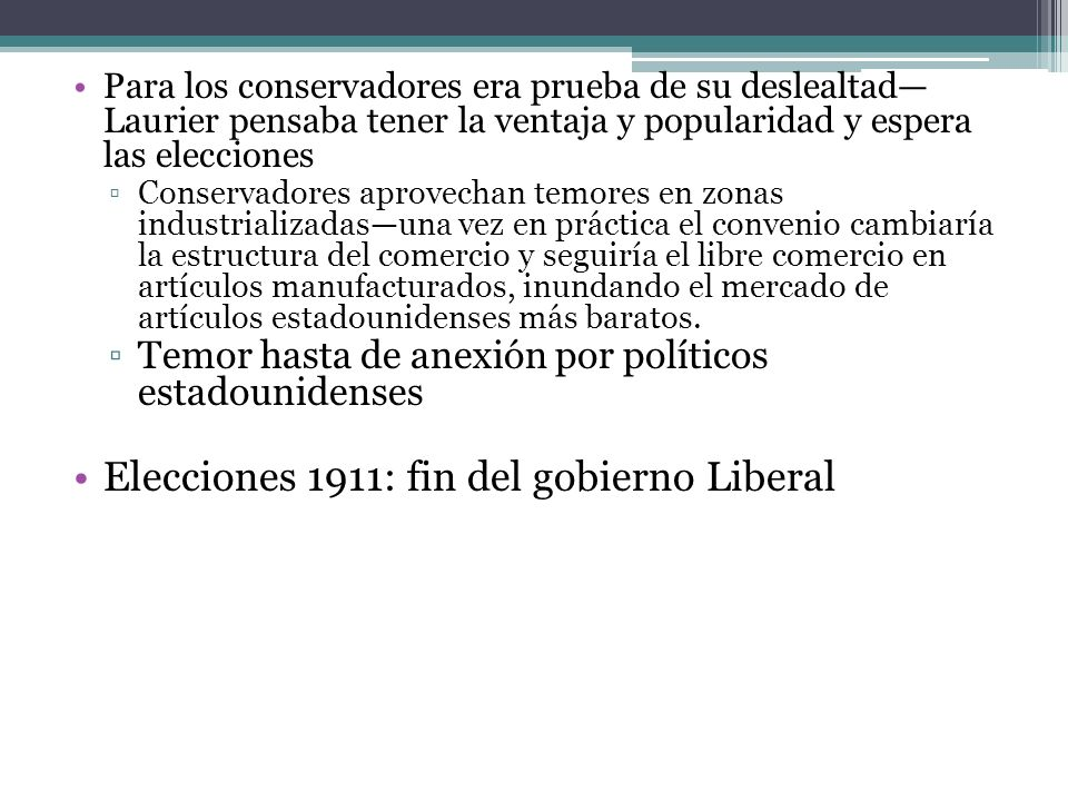 Elecciones 1911: fin del gobierno Liberal