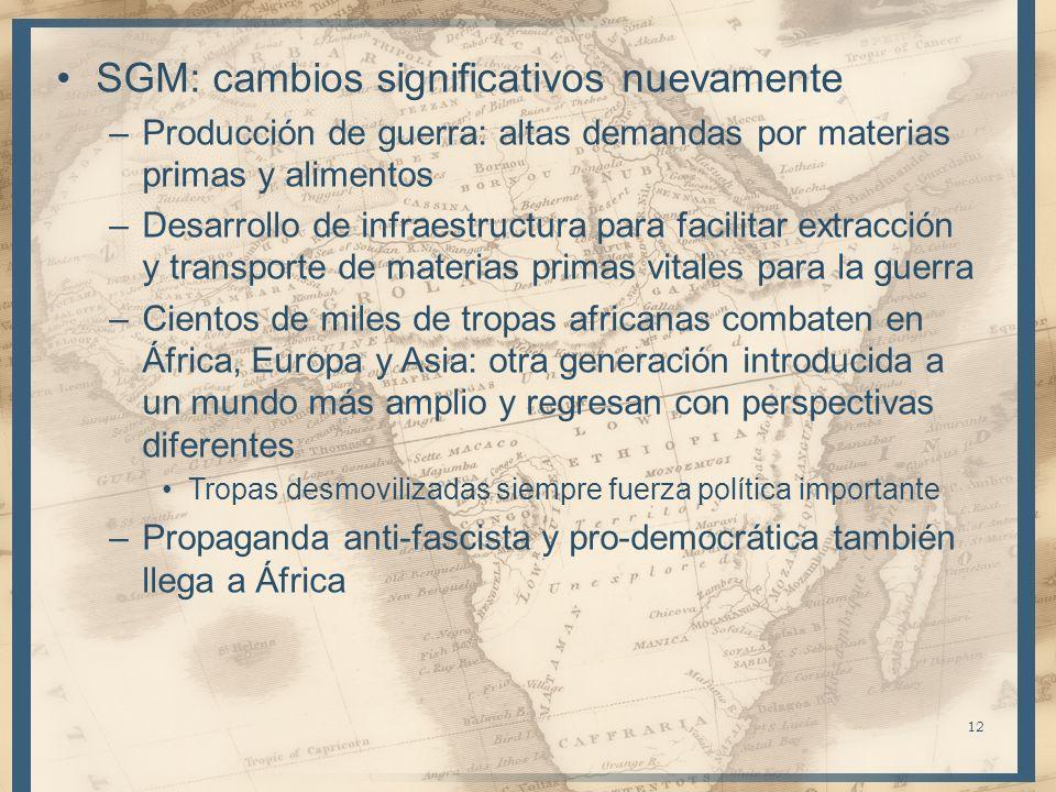 SGM: cambios significativos nuevamente