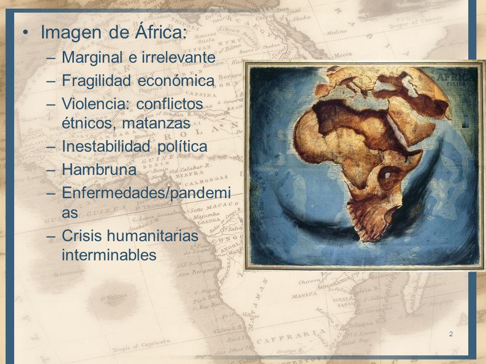 Imagen de África: Marginal e irrelevante Fragilidad económica