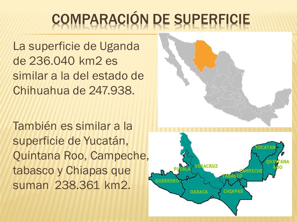 Comparación de superficie
