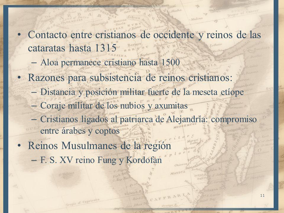 Razones para subsistencia de reinos cristianos: