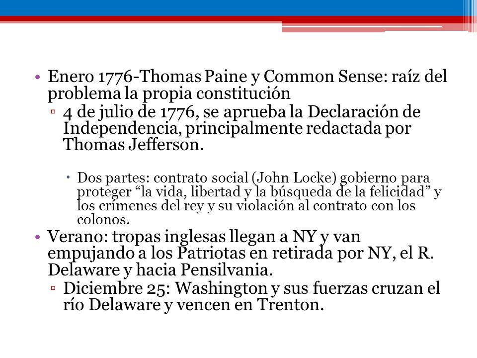 Enero 1776-Thomas Paine y Common Sense: raíz del problema la propia constitución