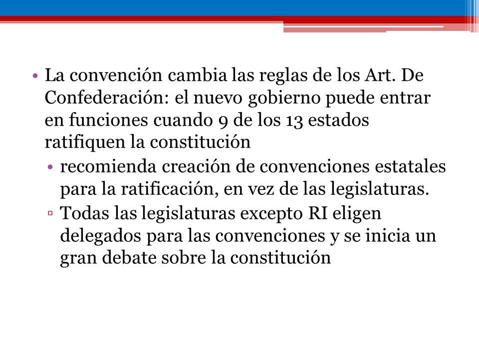 La convención cambia las reglas de los Art