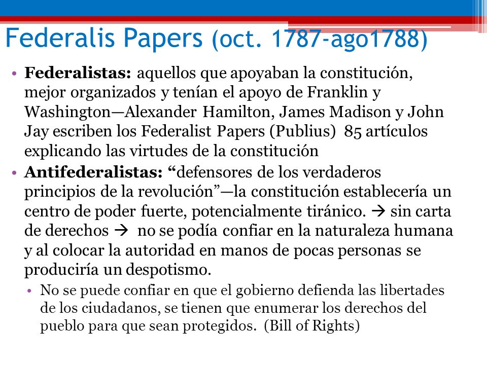 Federalis Papers (oct. 1787-ago1788)