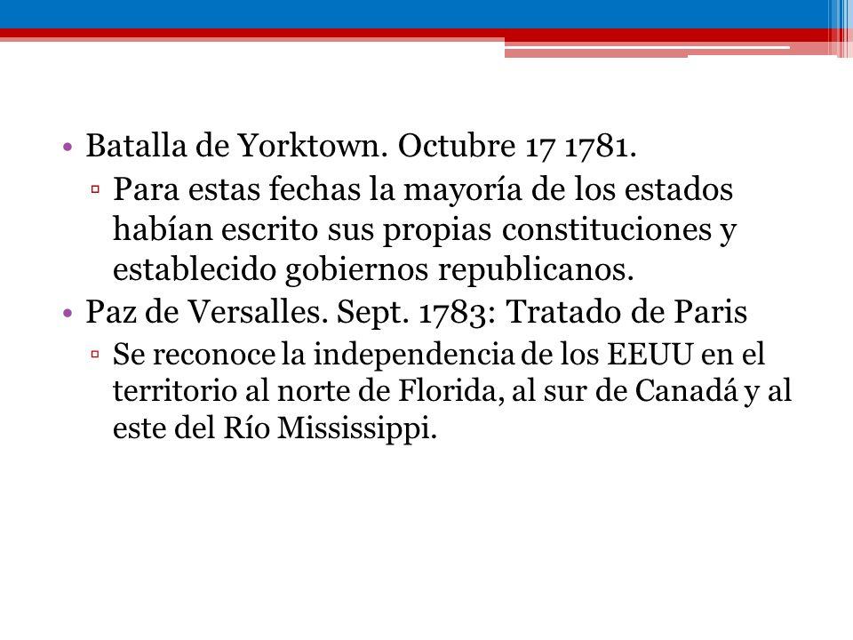 Batalla de Yorktown. Octubre 17 1781.