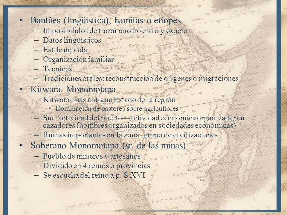 Bantúes (lingüística), hamitas o etíopes