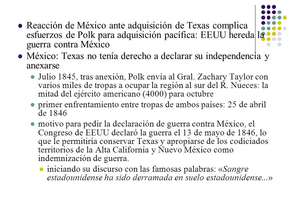 México: Texas no tenía derecho a declarar su independencia y anexarse
