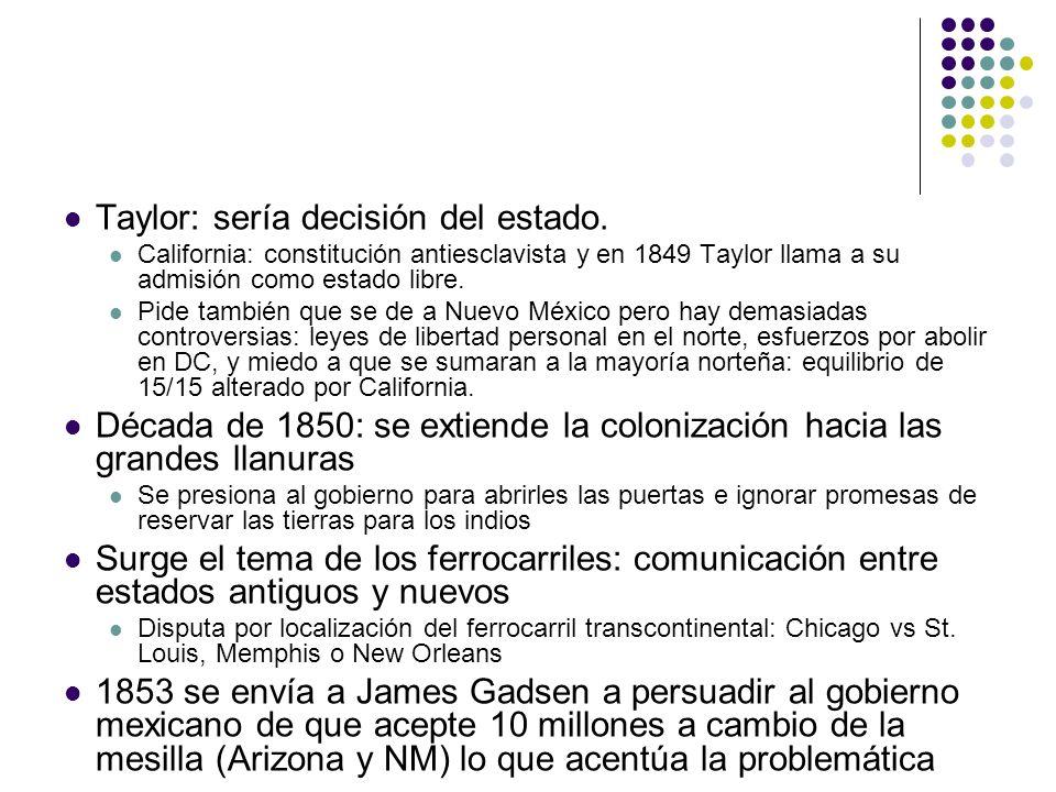 Taylor: sería decisión del estado.