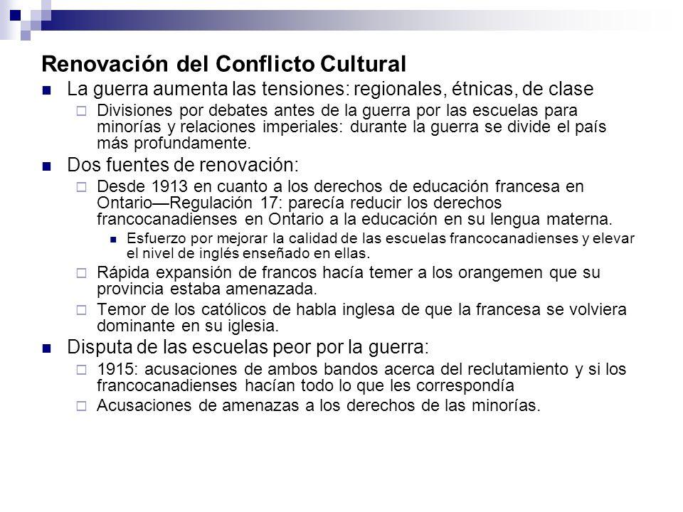 Renovación del Conflicto Cultural
