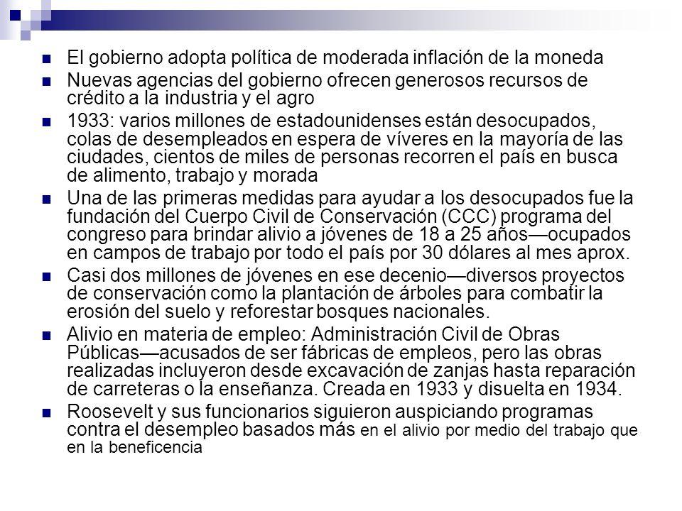 El gobierno adopta política de moderada inflación de la moneda
