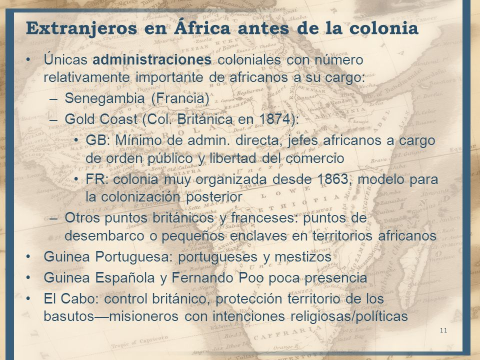 Extranjeros en África antes de la colonia