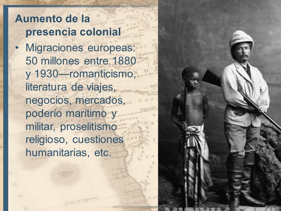Aumento de la presencia colonial