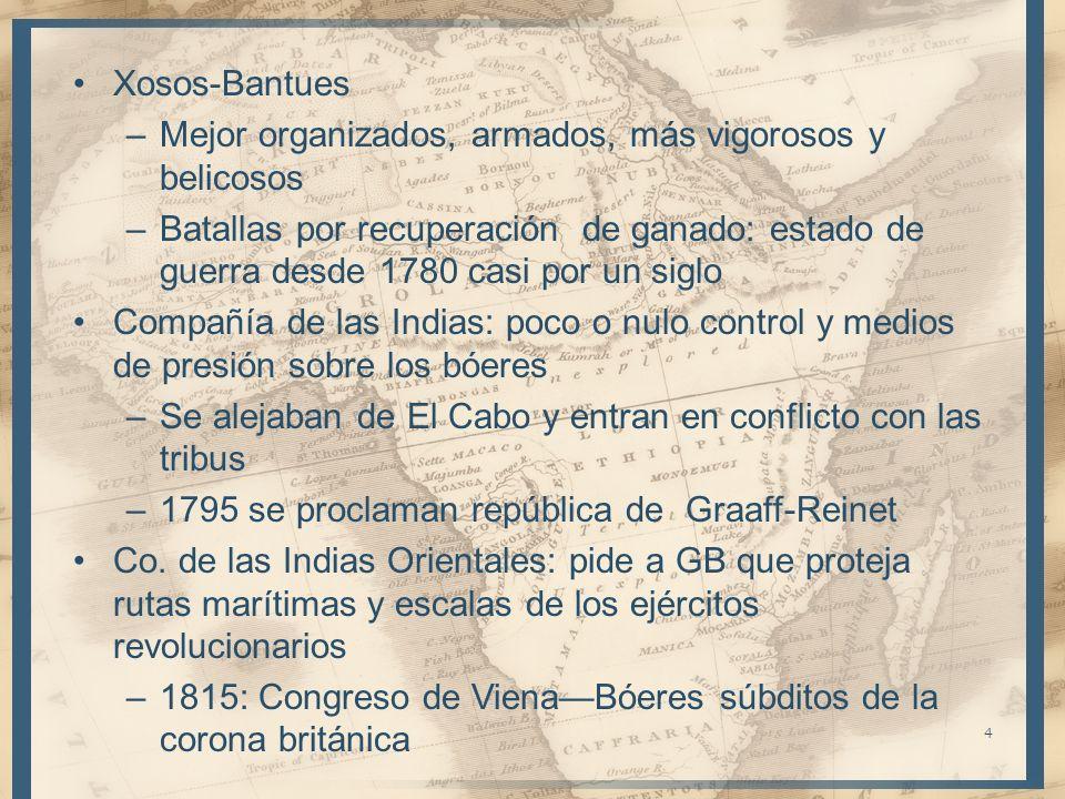 Xosos-BantuesMejor organizados, armados, más vigorosos y belicosos.