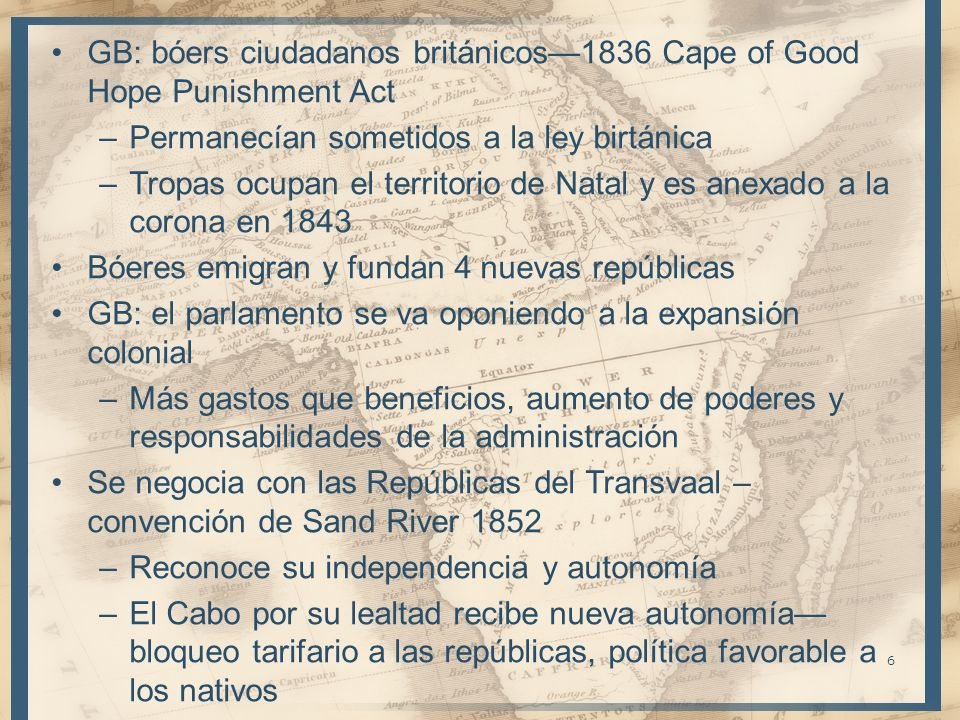 GB: bóers ciudadanos británicos—1836 Cape of Good Hope Punishment Act