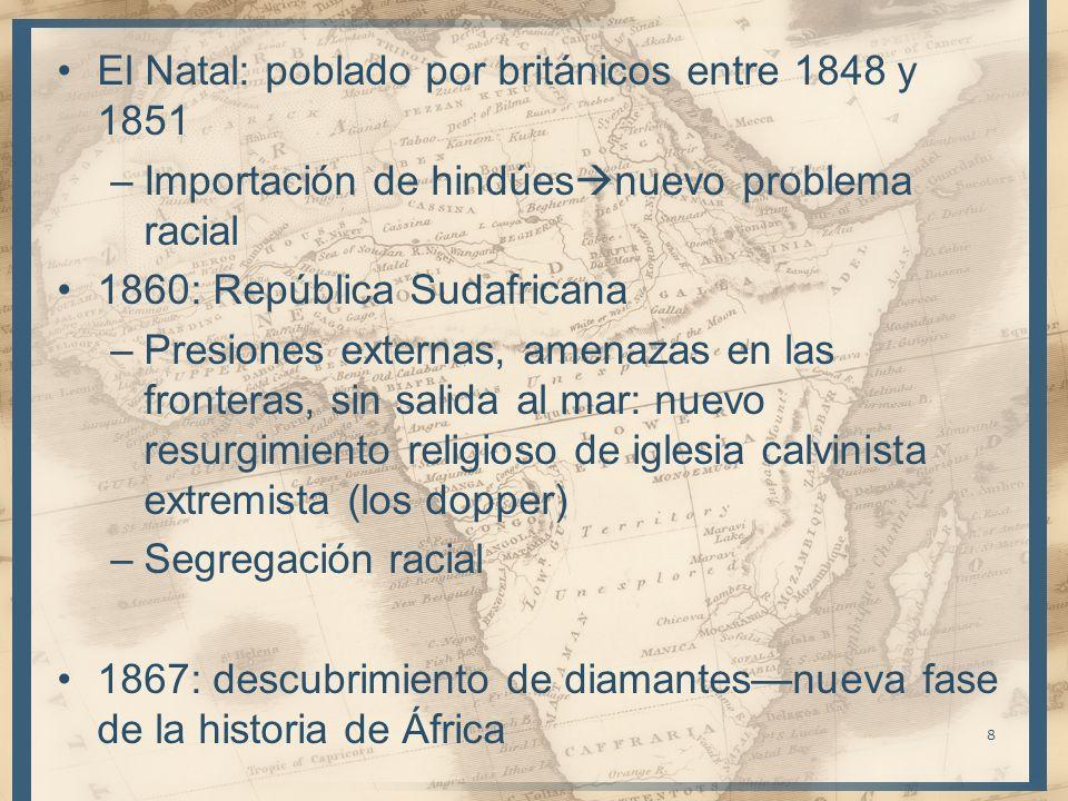 El Natal: poblado por británicos entre 1848 y 1851