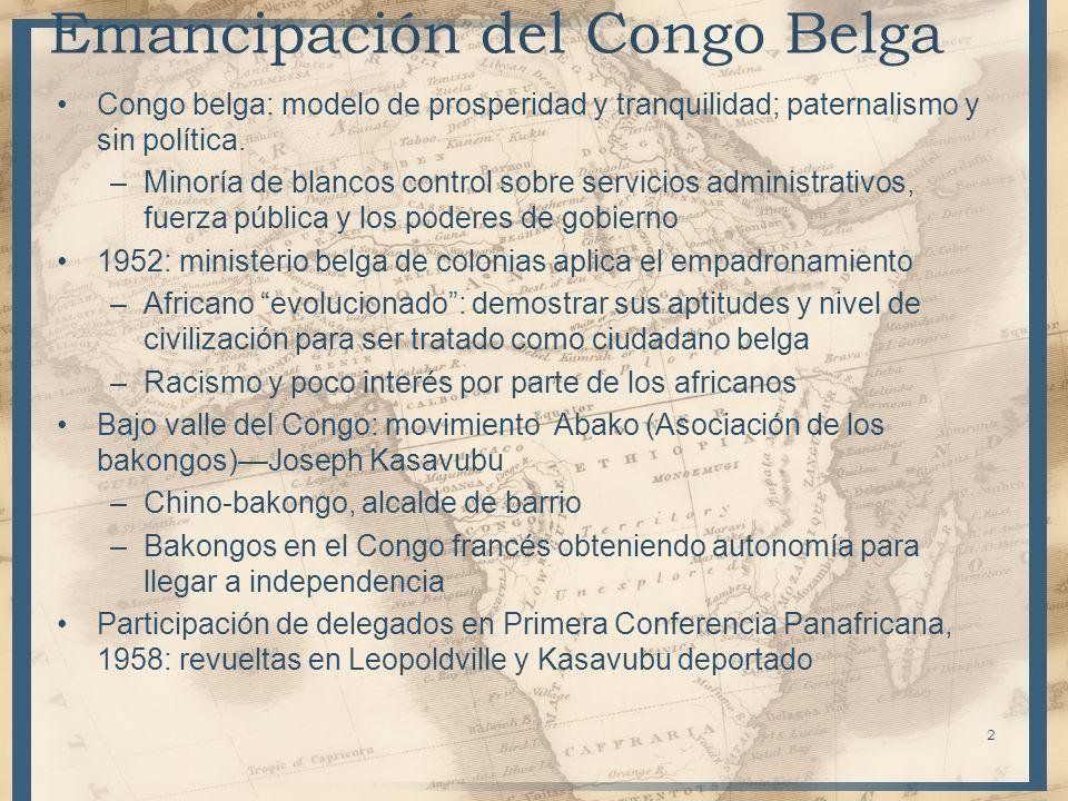 Emancipación del Congo Belga