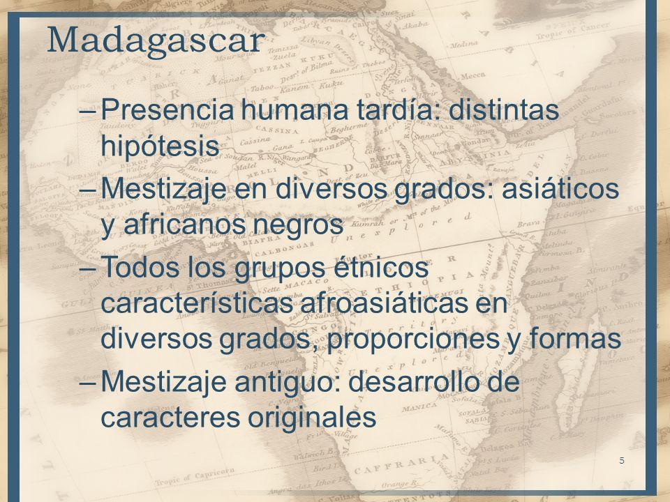 Madagascar Presencia humana tardía: distintas hipótesis
