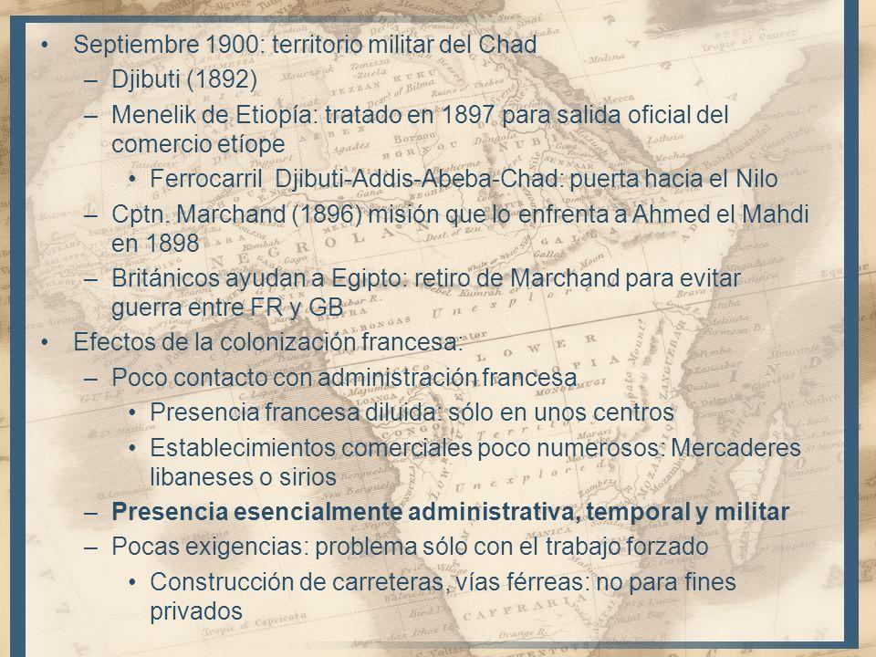 Septiembre 1900: territorio militar del Chad