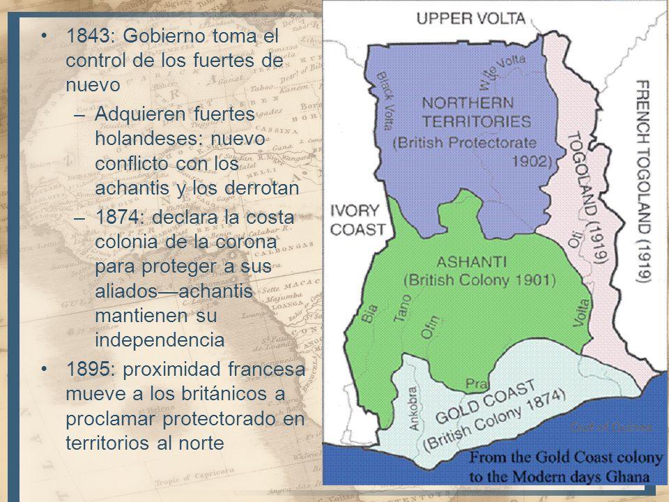 1843: Gobierno toma el control de los fuertes de nuevo