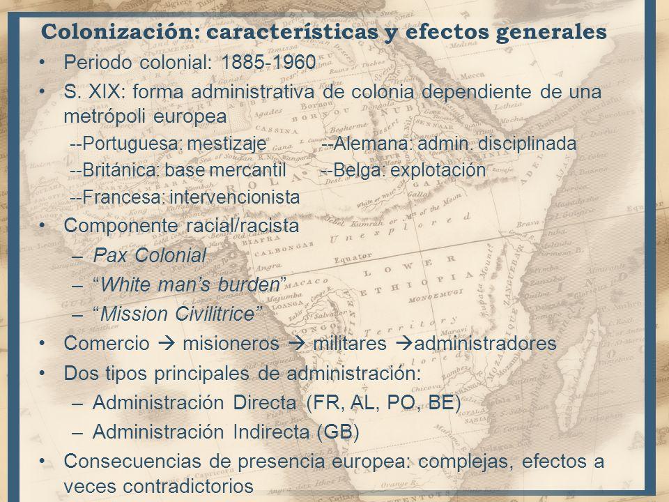 Colonización: características y efectos generales