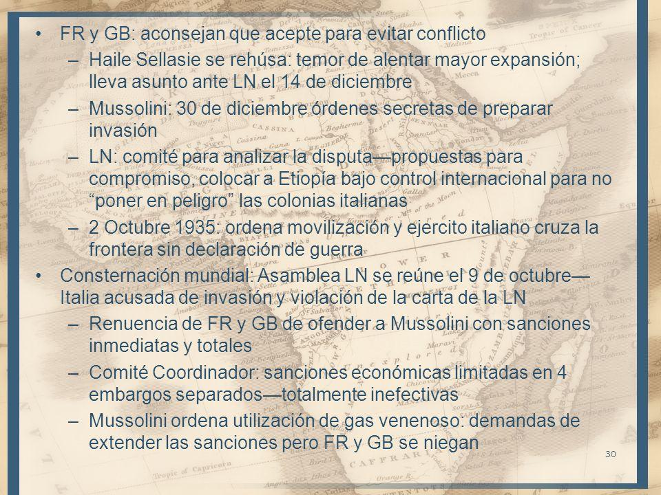 FR y GB: aconsejan que acepte para evitar conflicto