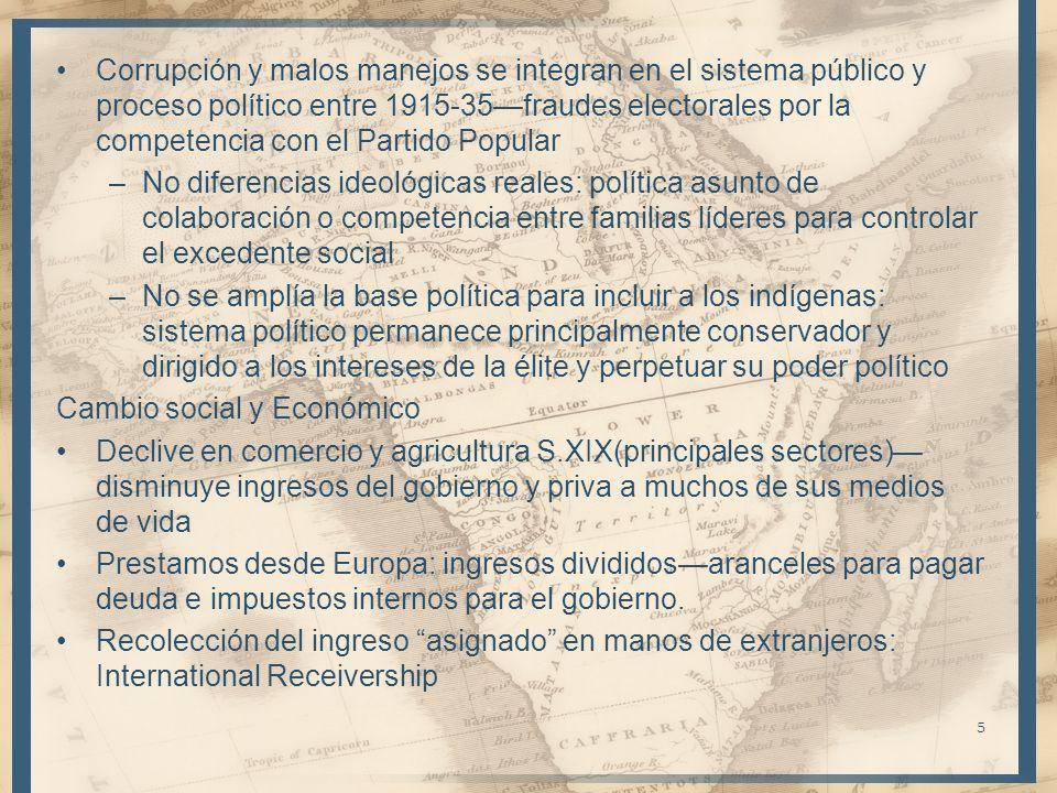 Corrupción y malos manejos se integran en el sistema público y proceso político entre 1915-35—fraudes electorales por la competencia con el Partido Popular
