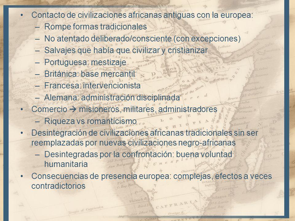 Contacto de civilizaciones africanas antiguas con la europea: