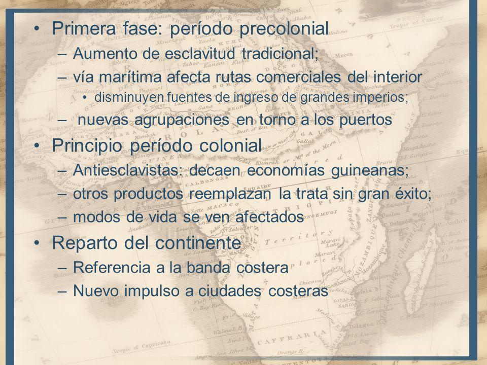 Primera fase: período precolonial