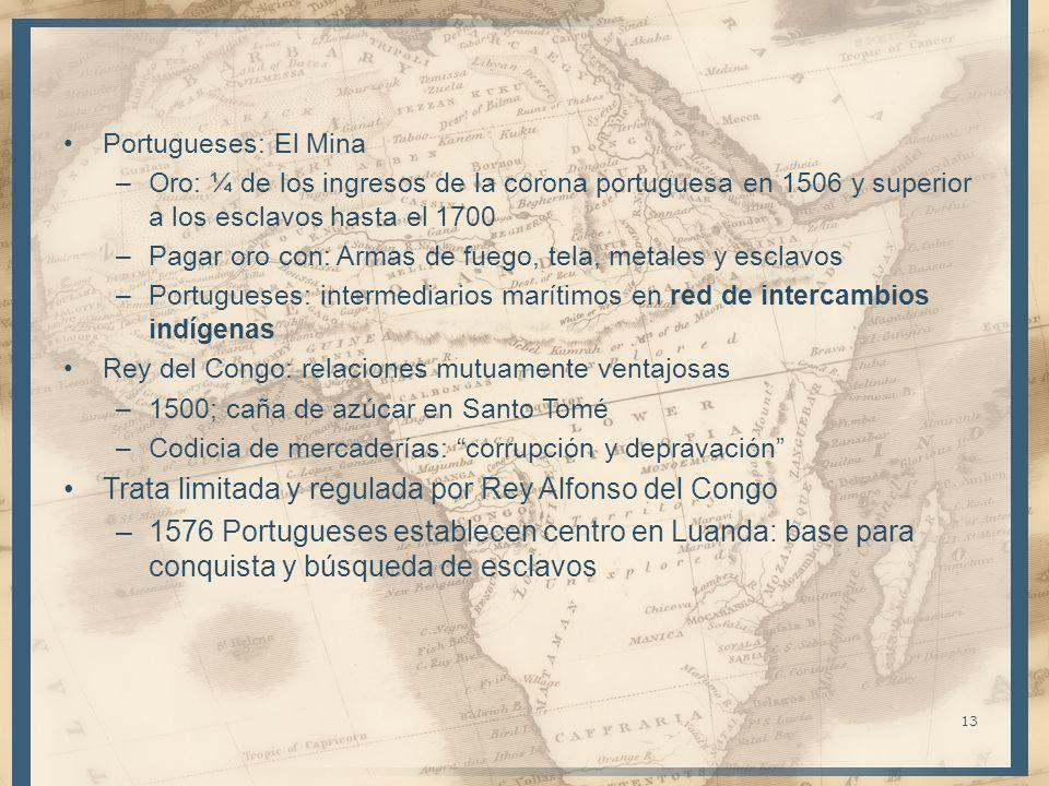Trata limitada y regulada por Rey Alfonso del Congo