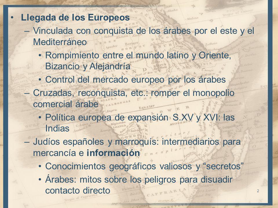 Llegada de los Europeos