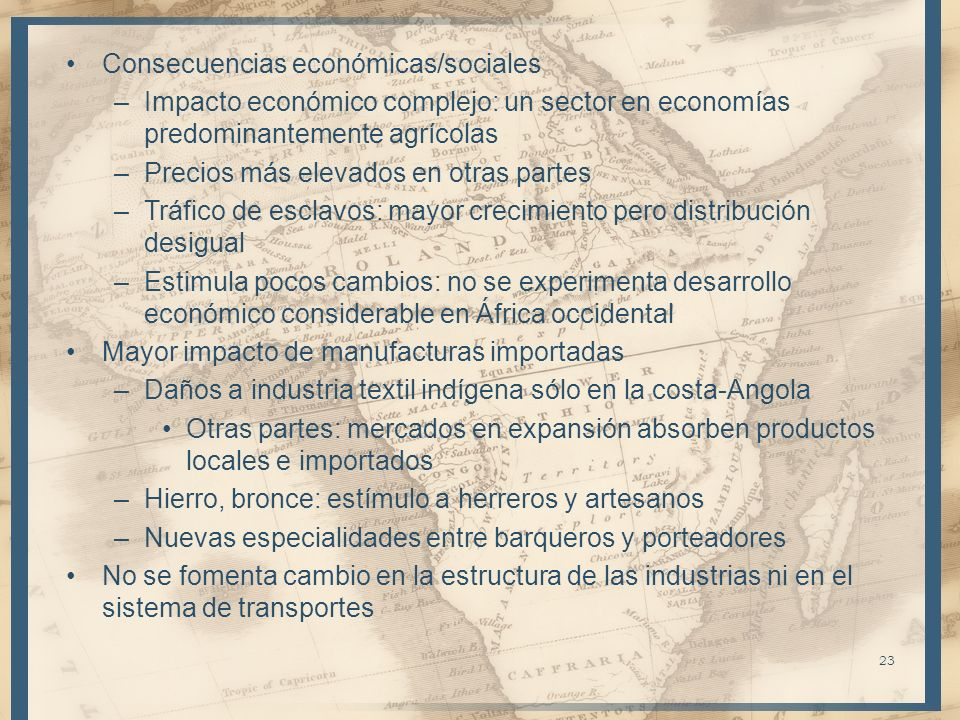 Consecuencias económicas/sociales
