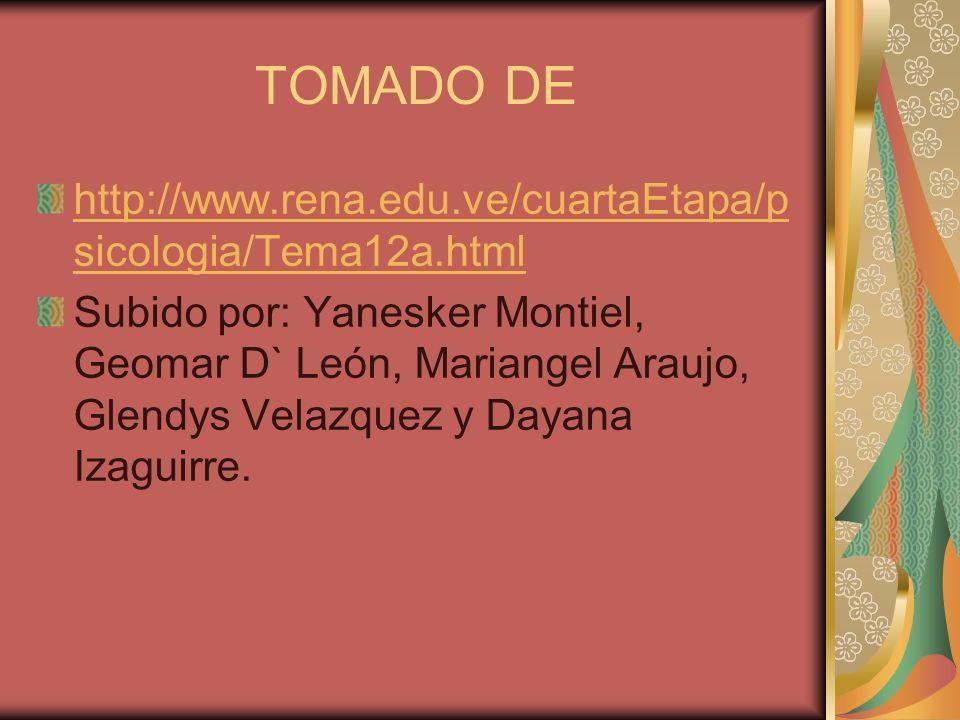 TOMADO DE http://www.rena.edu.ve/cuartaEtapa/psicologia/Tema12a.html