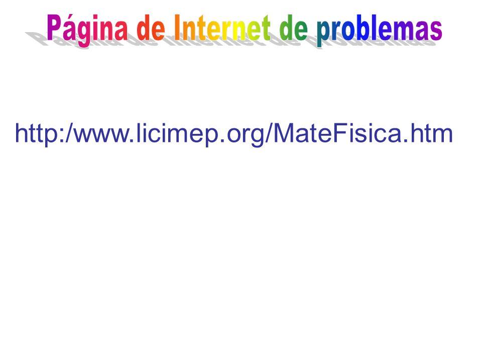 Página de Internet de problemas