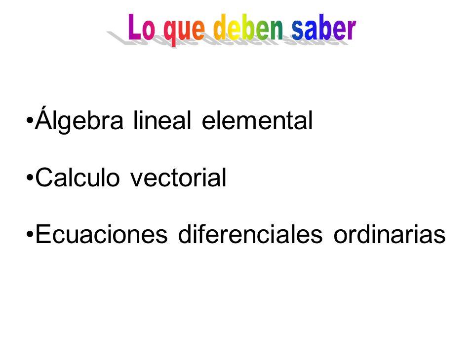 Álgebra lineal elemental Calculo vectorial