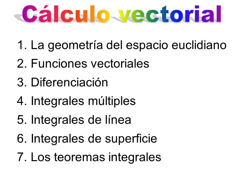 Cálculo vectorial La geometría del espacio euclidiano. Funciones vectoriales. Diferenciación. Integrales múltiples.