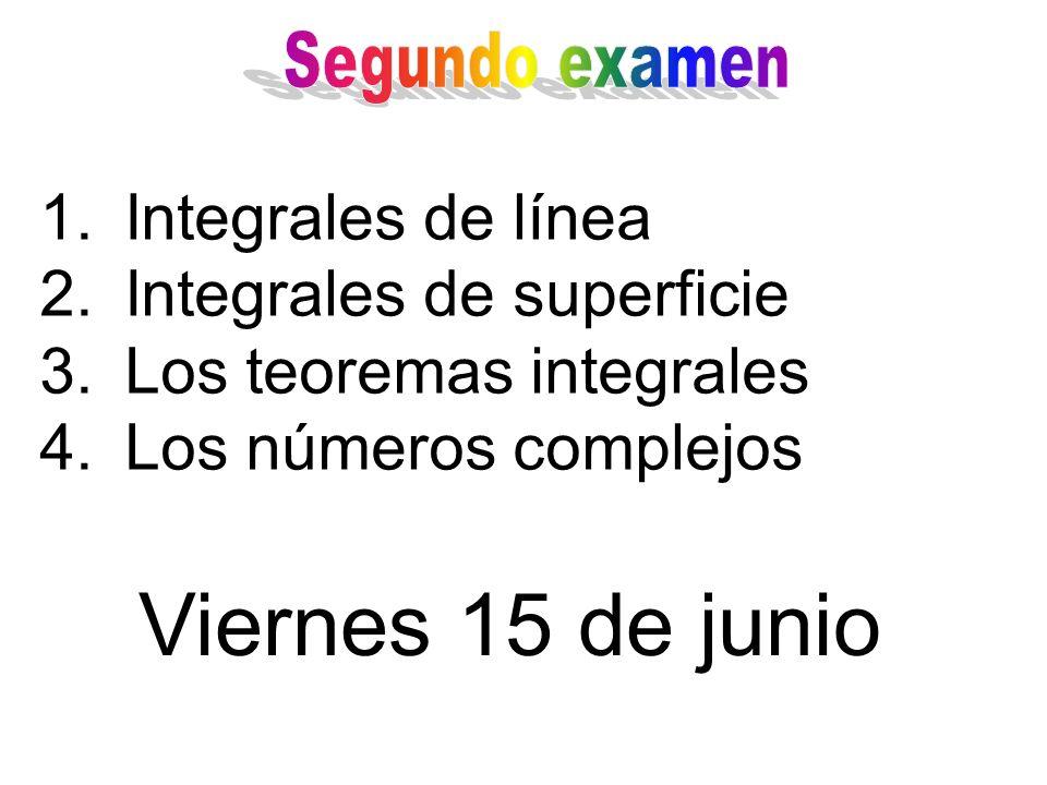 Viernes 15 de junio Integrales de línea Integrales de superficie